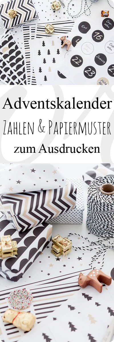 Adventskalender Zahlen Free Printable