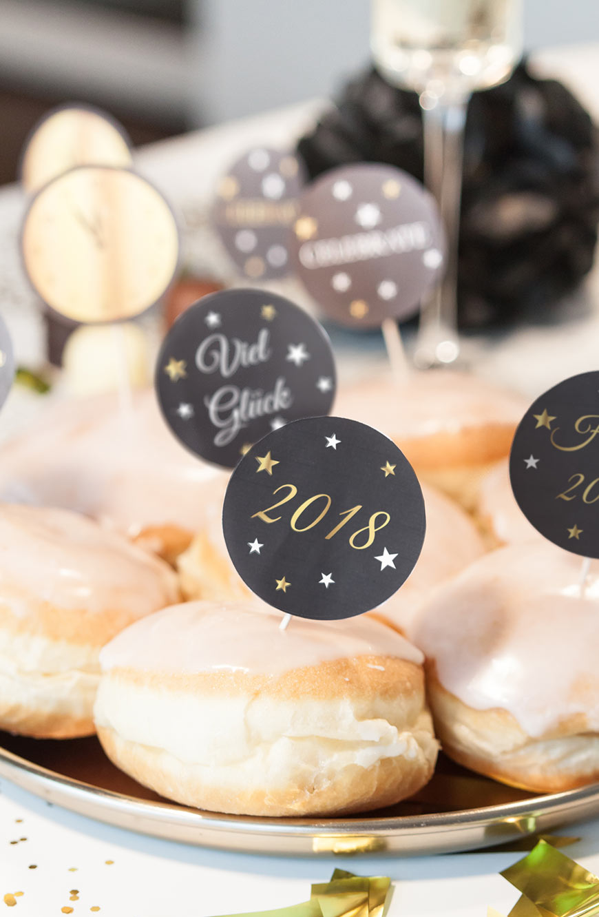 Silvesterparty Freebies Printables