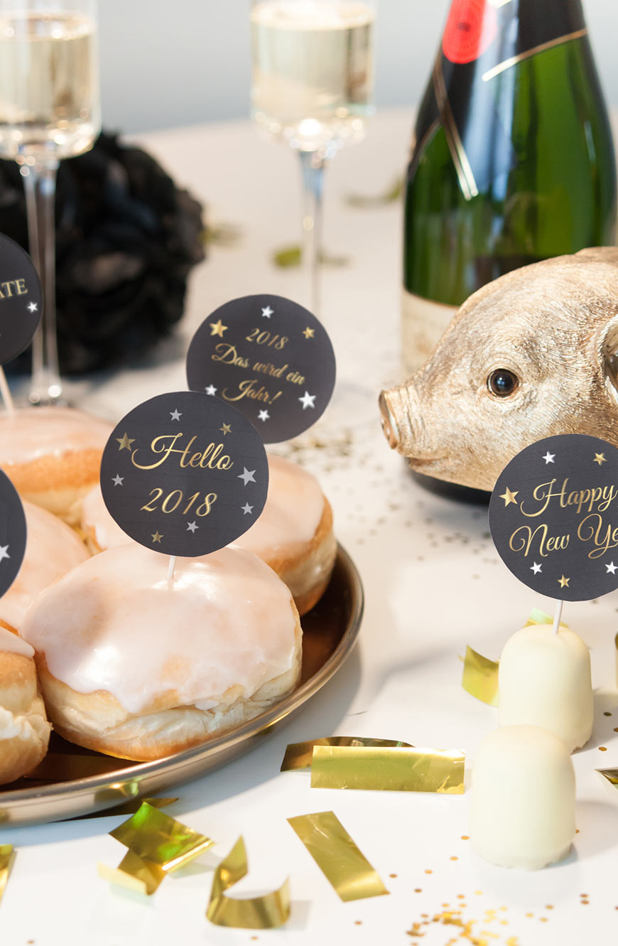 Silvesterparty Printables Freebies